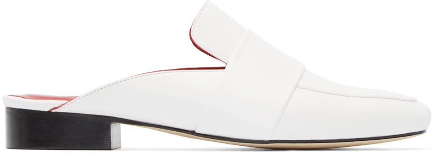 Dorateymur White Patent Leather Filiskiye Mules