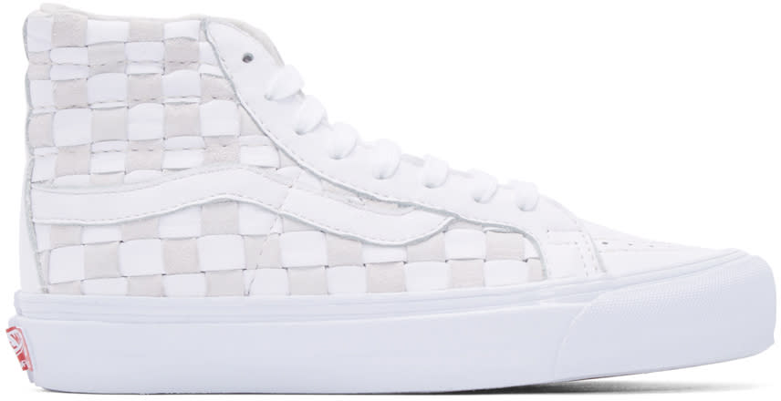 Vans White 50th Og Sk8-hi Lx Sneakers