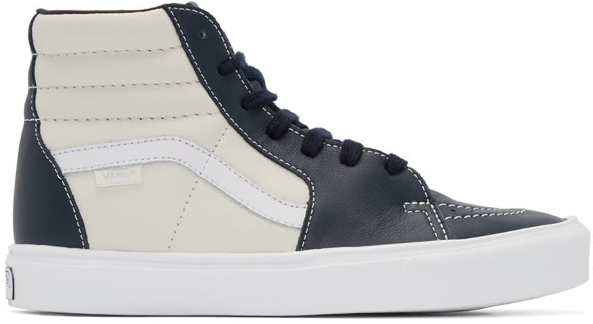 Vans Navy and Off-white Sk8-hi Lite Lx High-top Sneakers