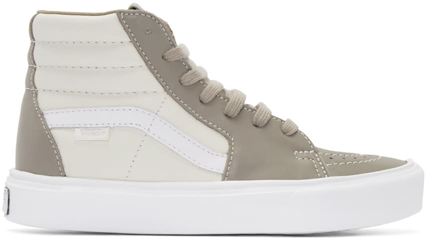 Vans Taupe and Off-white Sk8-hi Lite Lx High-top Sneakers