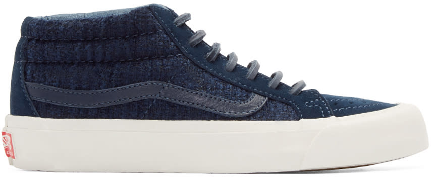 Vans Navy Tweed Og Sk8-mid Lx Sneakers