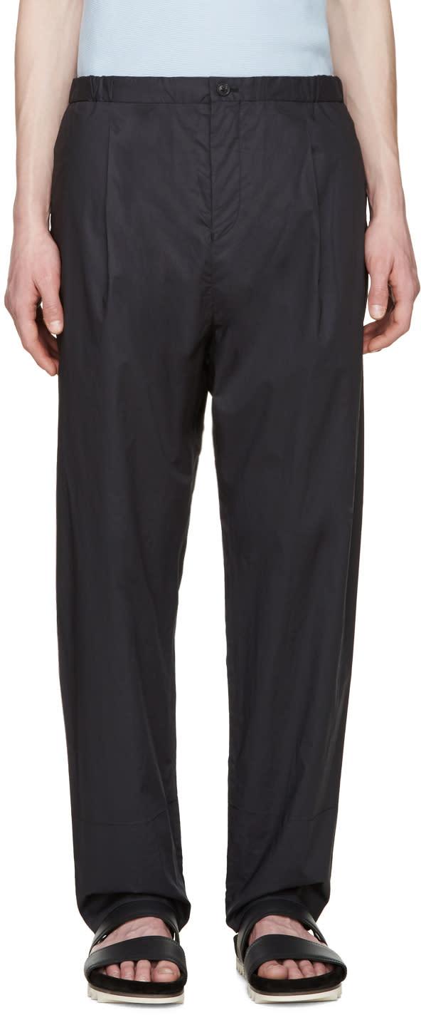 Tomorrowland Navy Papaya E-slant Trousers