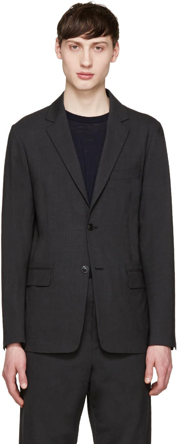 Image of Tomorrowland Grey Tropical Wool Blazer