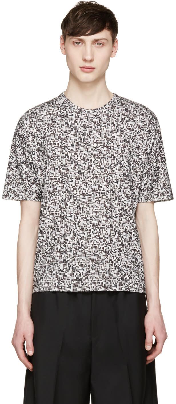 Stephan Schneider Grey Crescent Flag T-shirt
