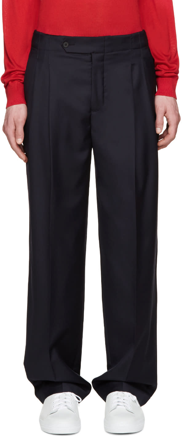 Editions MR Navy High-rise Trousers