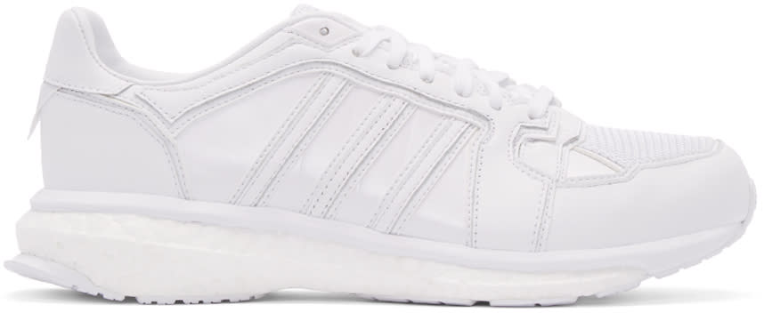 Adidas X White Mountaineering White Leather Energy Boost Sneakers