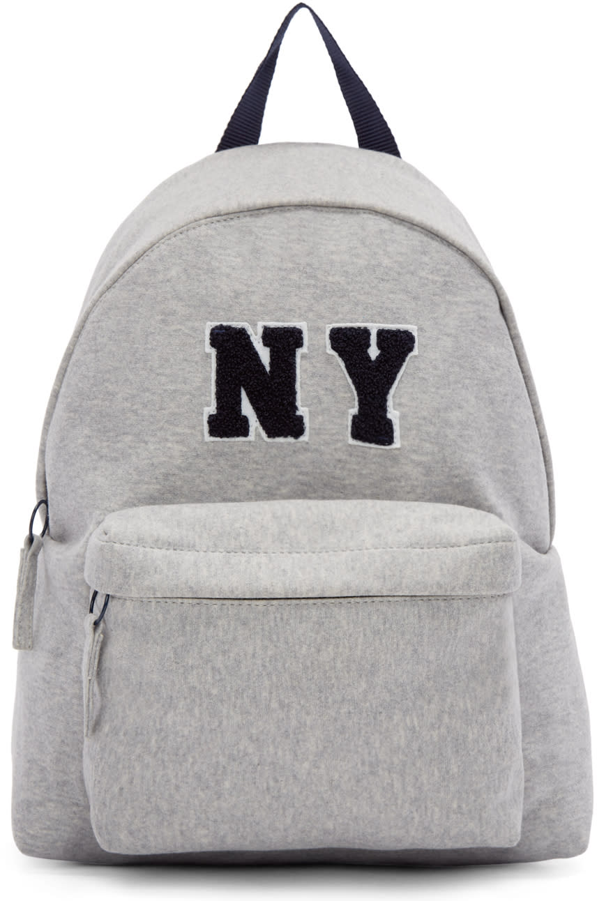 Joshua Sanders Grey Jersey Ny Backpack
