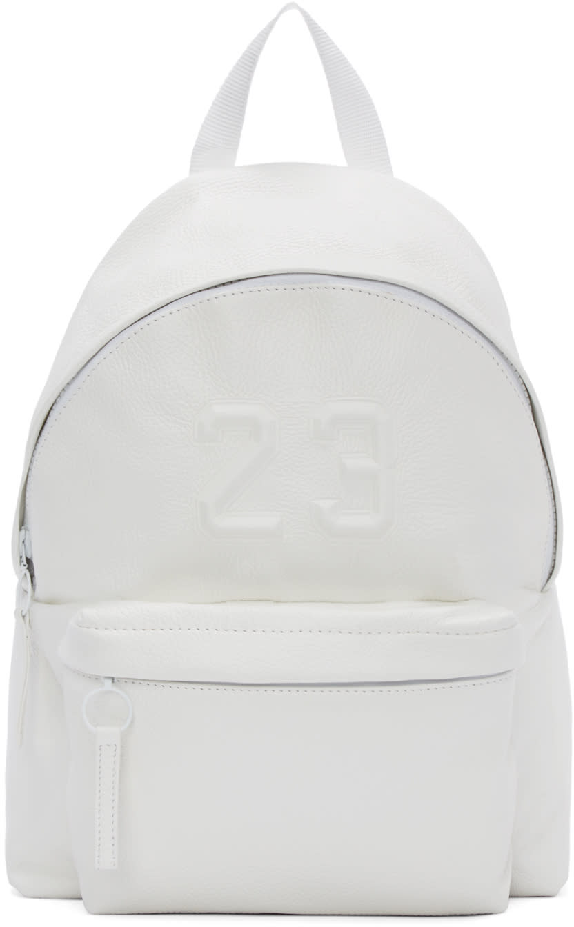 Joshua Sanders White Leather 23 Backpack