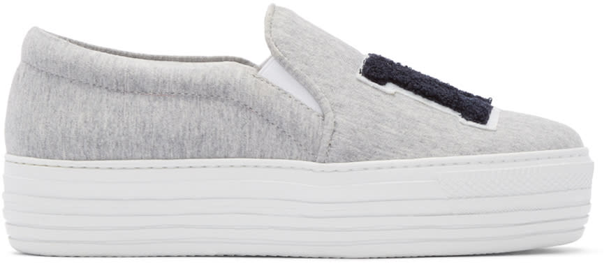 Joshua Sanders Grey ny Platform Slip-on Sneakers
