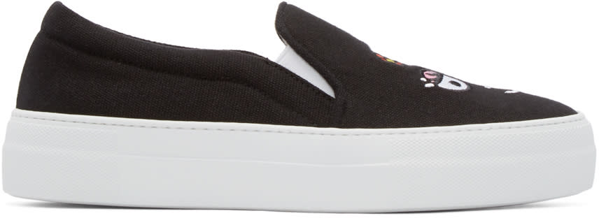 Joshua Sanders Black Barbamama Slip-on Sneakers