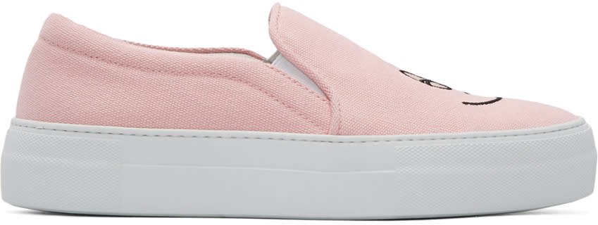 Joshua Sanders Pink Barbapapa Slip-on Sneakers