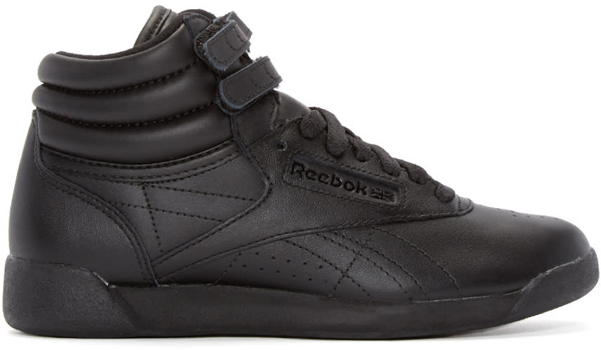 Reebok Classics Black Freestyle High-top Sneakers