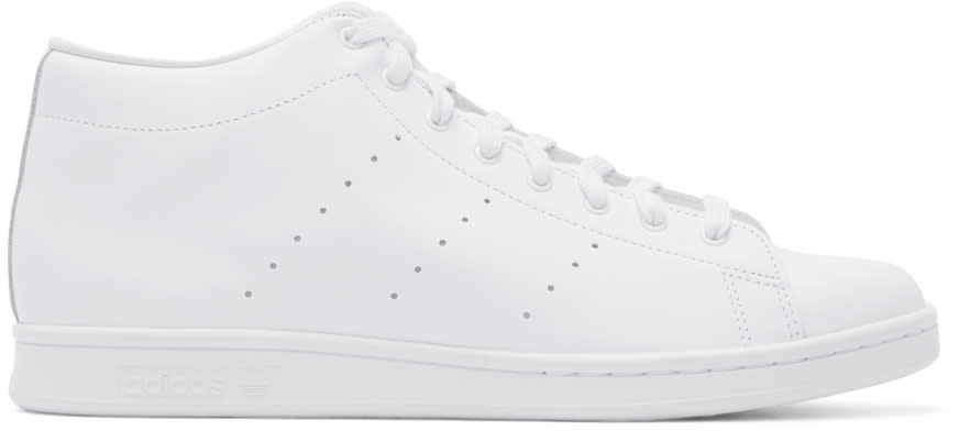 Image of Adidas Originals By Hyke White Leather Aoh-001 High-top Sneakers