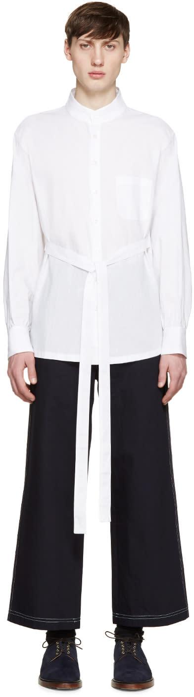 Wales Bonner White Linen Ishmael Shirt