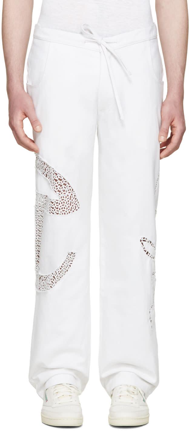 Telfar White Basic Lace Jeans