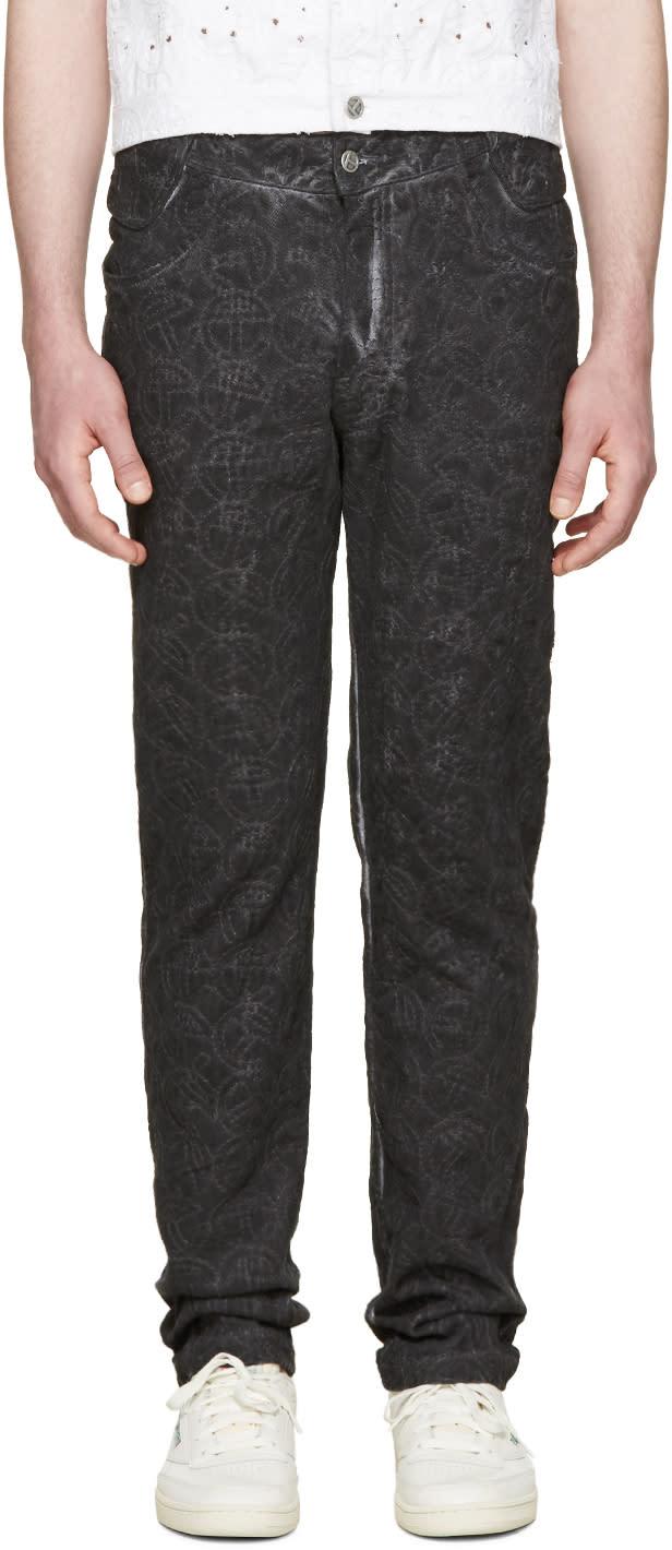 Telfar Black Embroidered Simplex Jeans