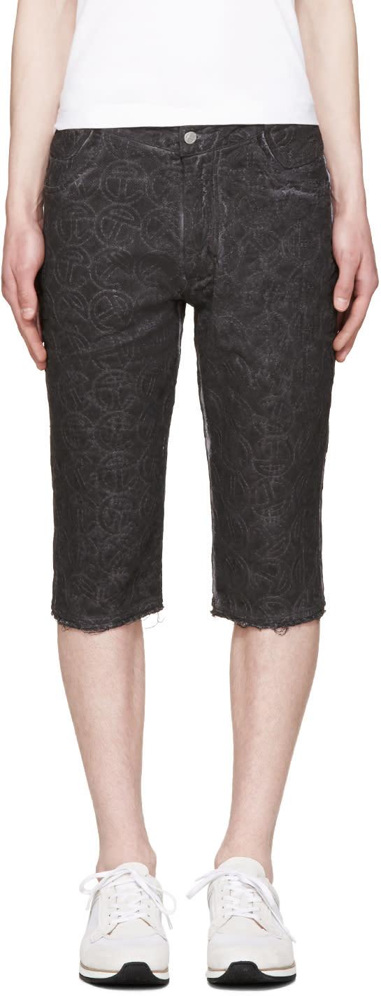 Telfar Black Embroidered Simplex Shorts