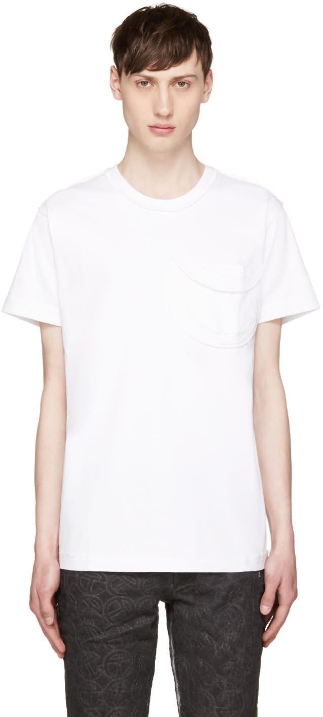 Telfar White Logo Pocket T-shirt