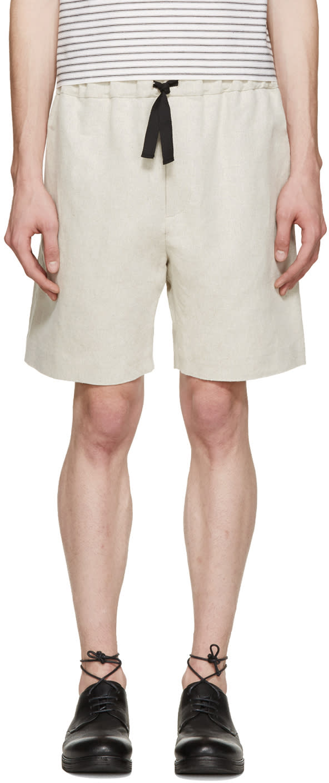 Phoebe English Beige Linen Shorts