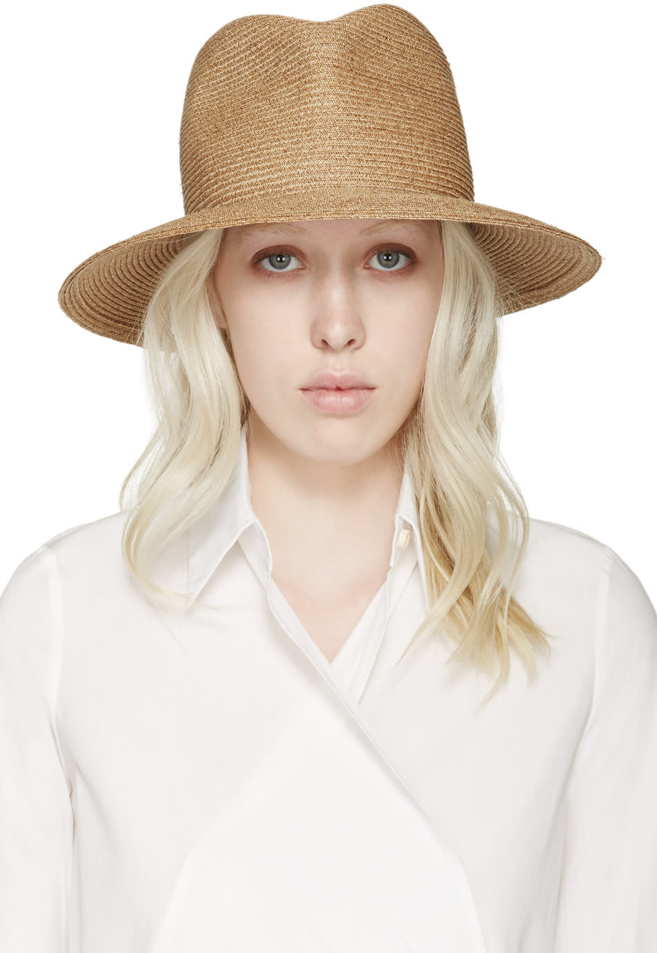Albertus Swanepoel Ssense Exclusive Tan Fedora Arabel Hat