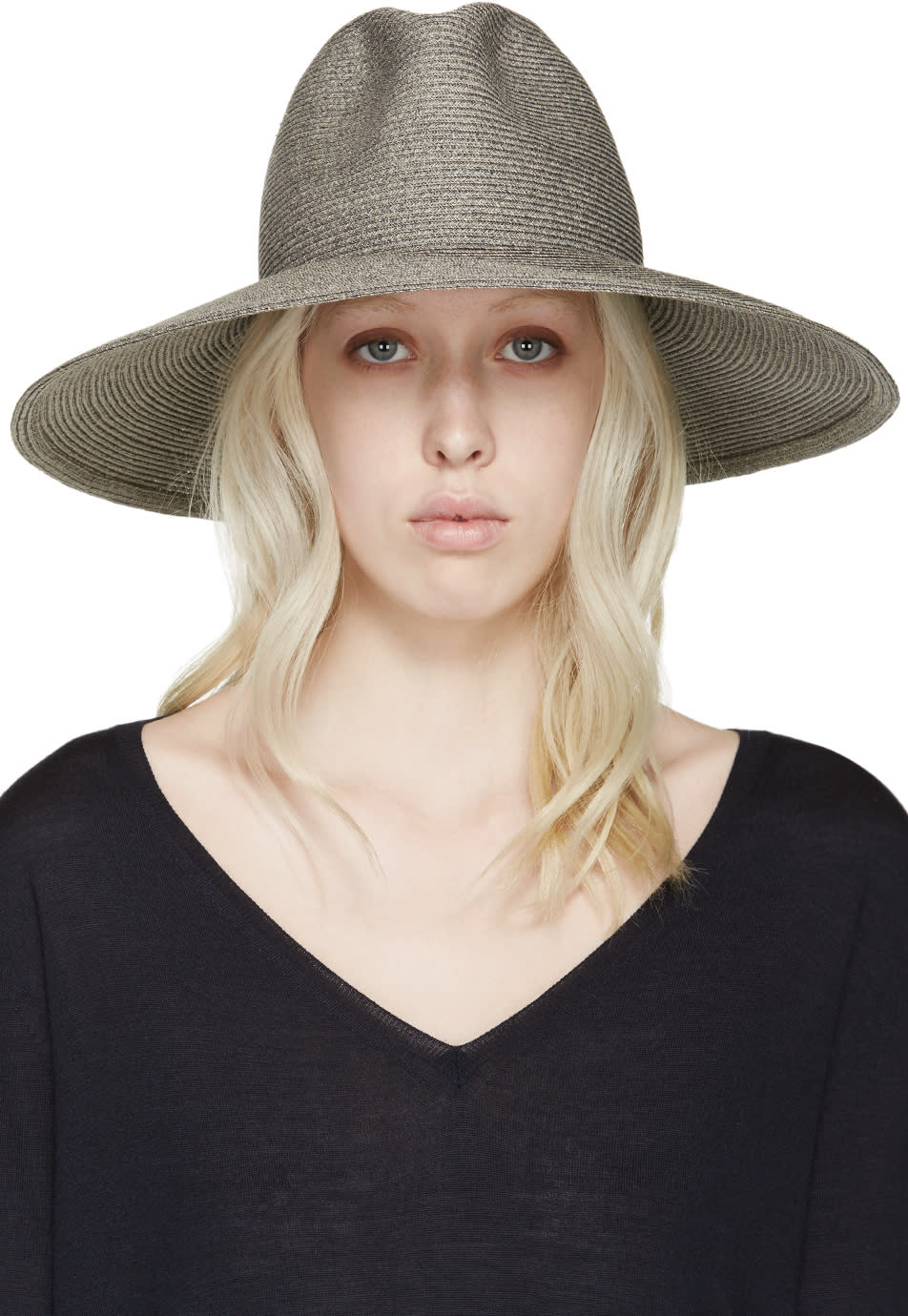 Albertus Swanepoel Ssense Exclusive Grey Wide-brim Mustique Hat
