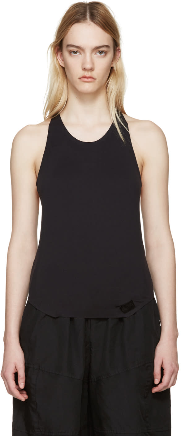 Y-3 Sport Black Racer Back Tank Top