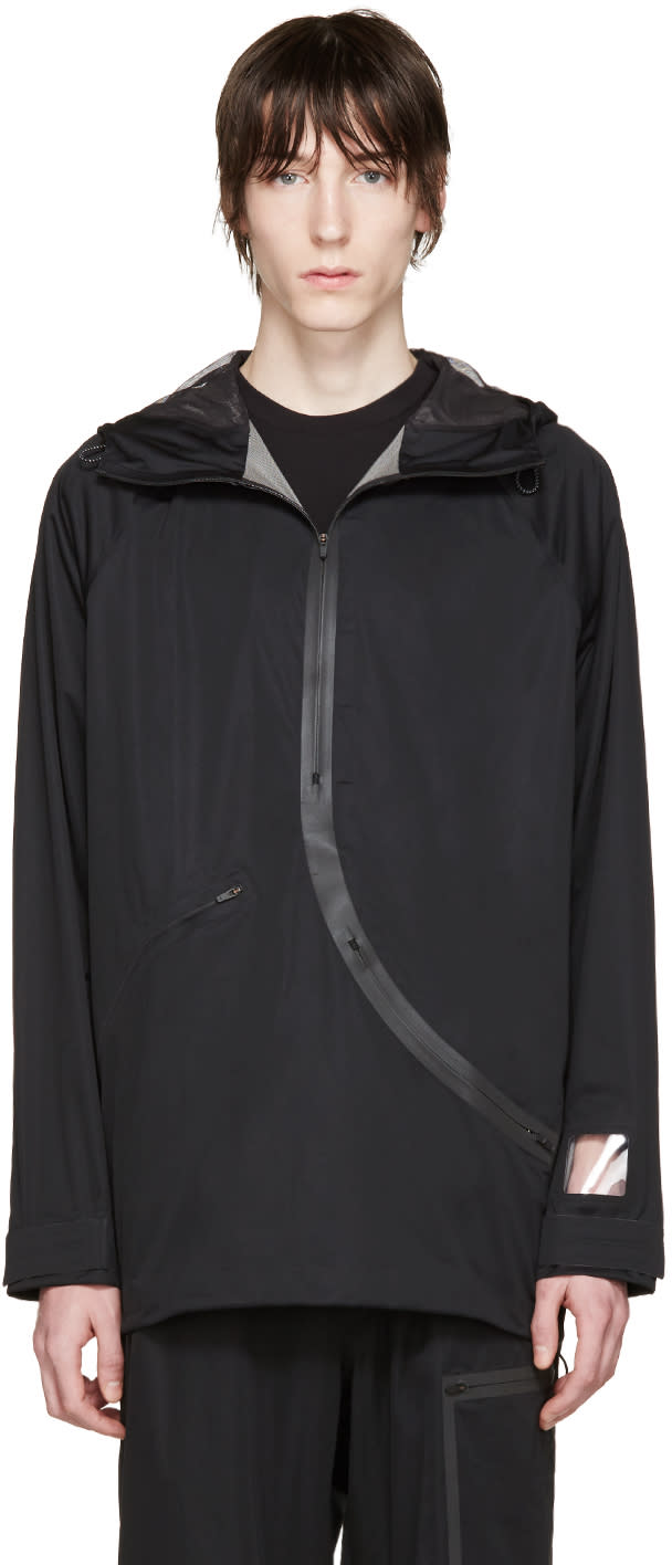 Image of Y-3 Sport Black Hooded Approach Jacket