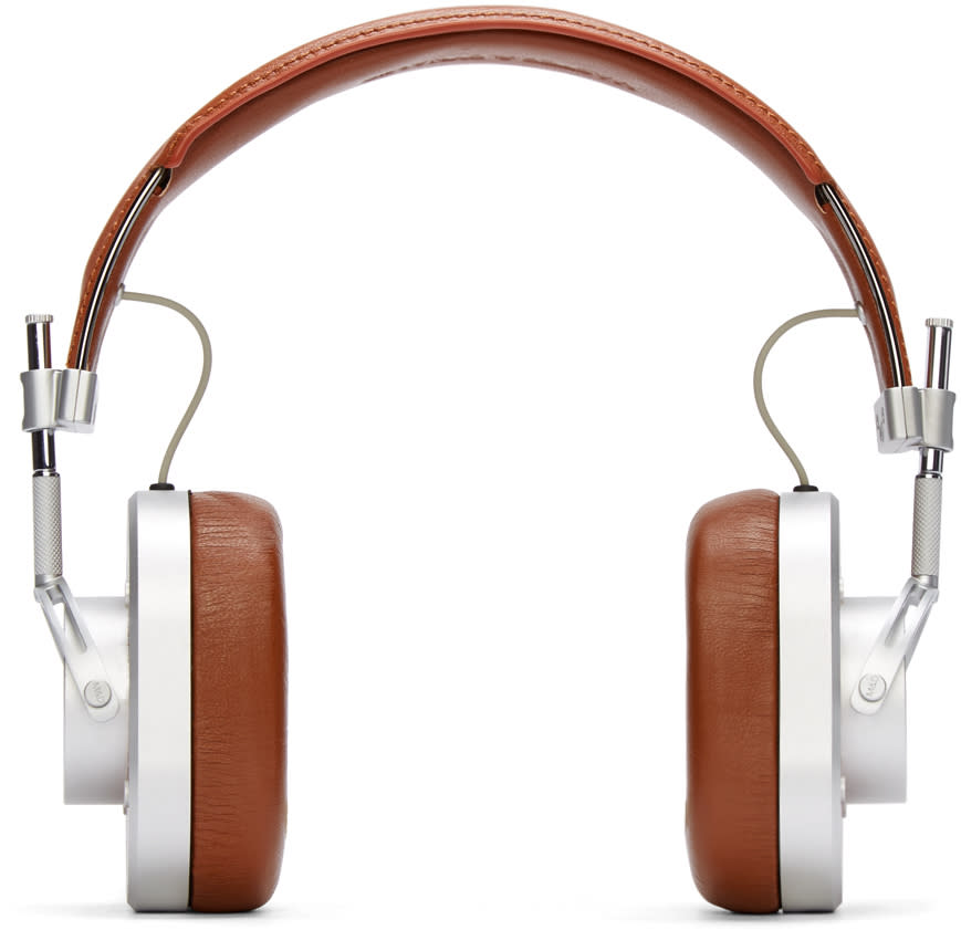 Master and Dynamic Silver and Brown Mh40 Headphones