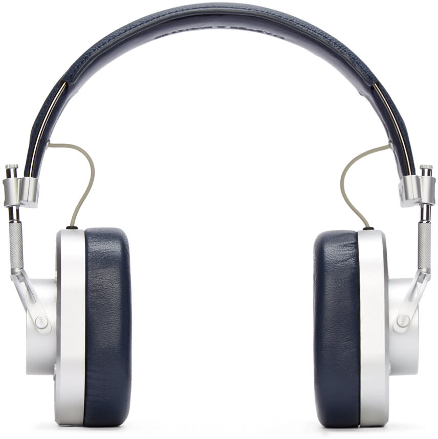 Master and Dynamic Silver and Navy Mh40 Headphones