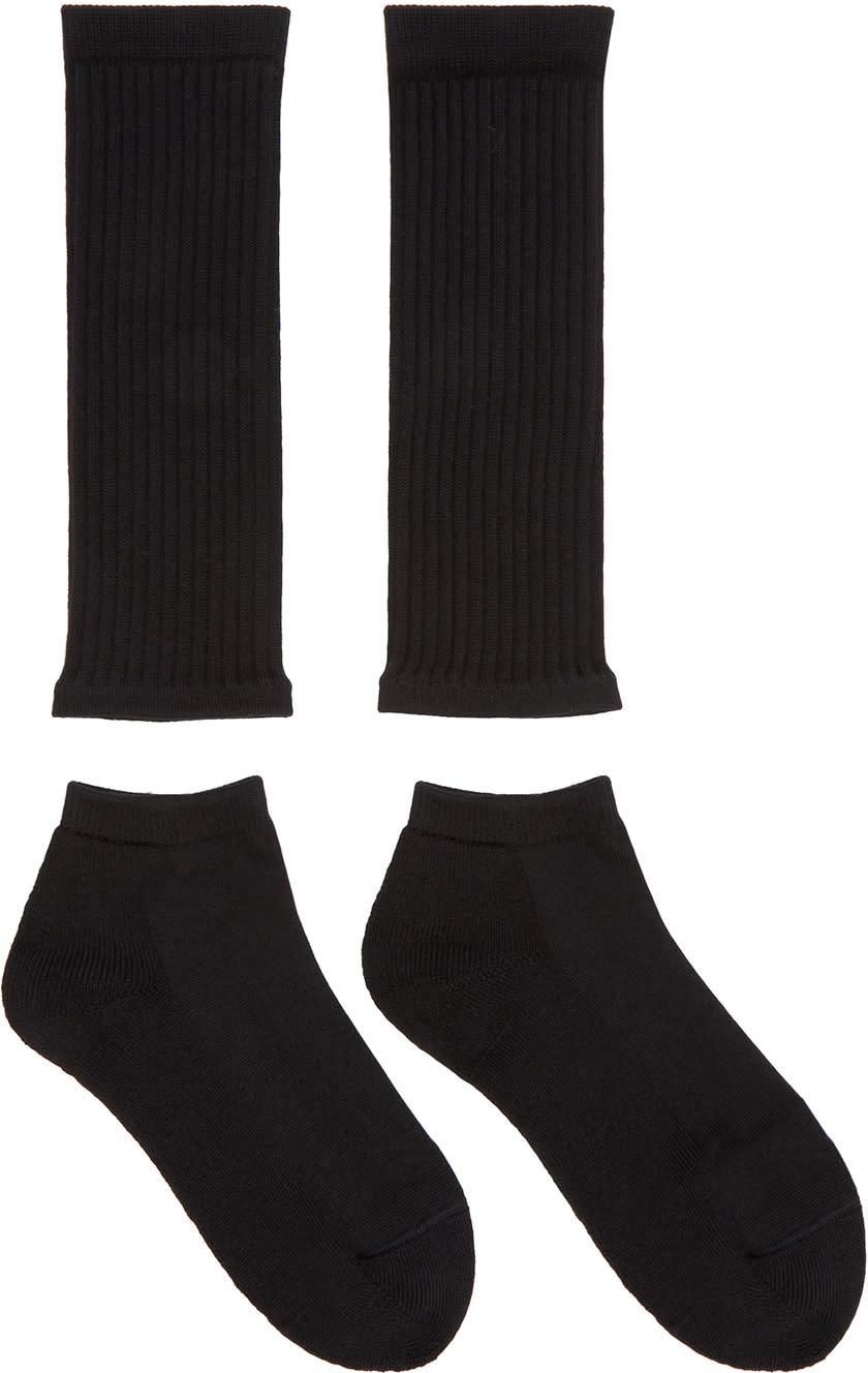 Hyke Black Separate Socks