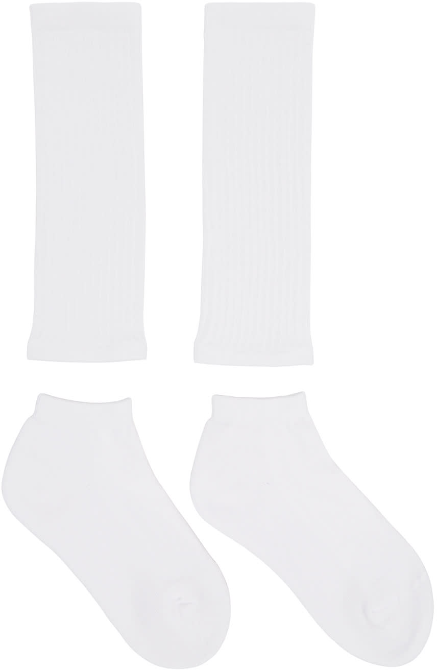 Hyke White Separate Socks