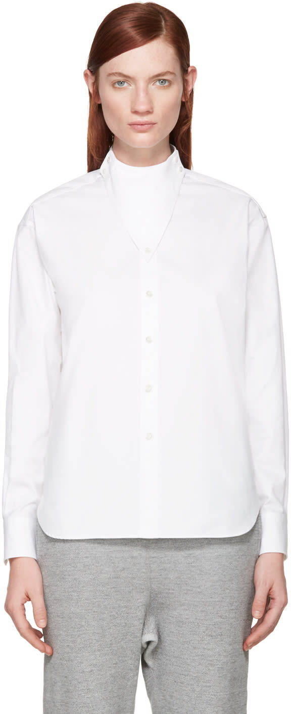 Hyke White Triangle Collar Shirt