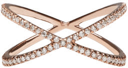 Eva Fehren Rose Gold Diamond Shorty Ring