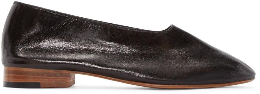 Martiniano Black Leather Glove Flats