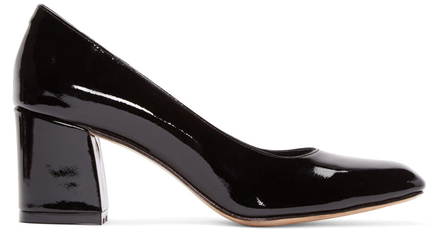 Image of Maryam Nassir Zadeh Black Patent Two-tone Pumps