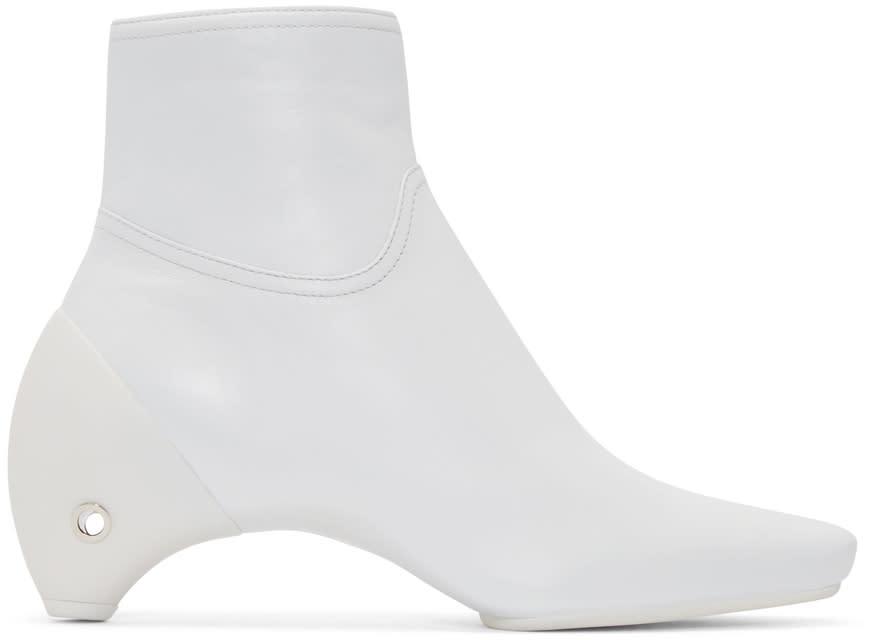 Courreges White Leather Gogo Boots