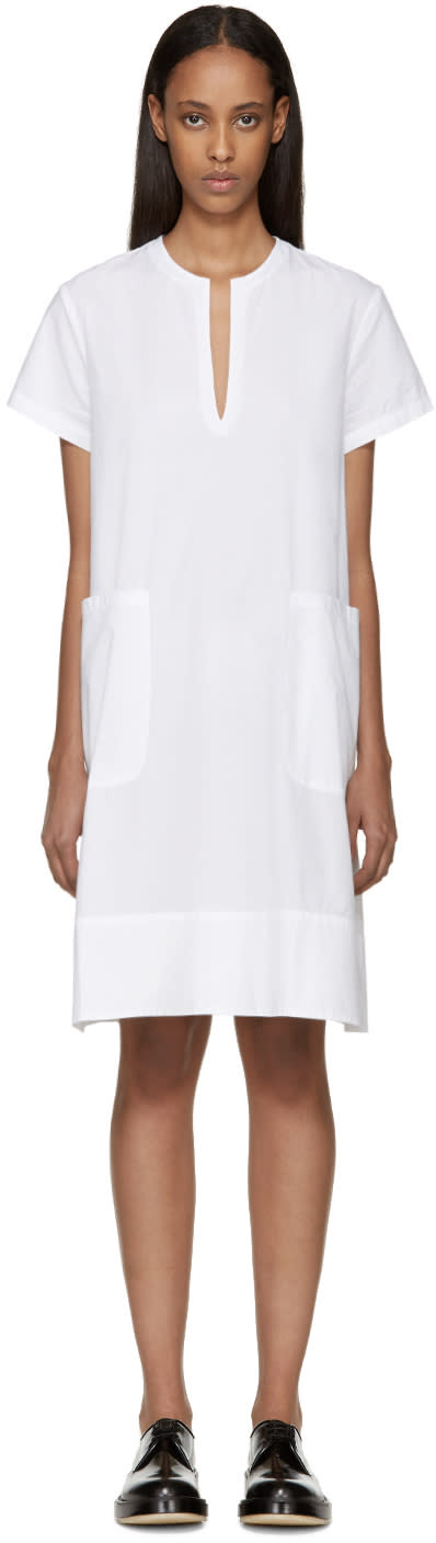 Sara Lanzi White Poplin Dress