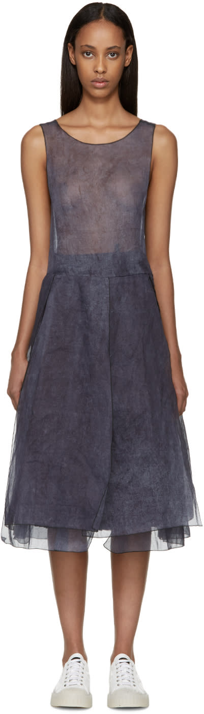 Sara Lanzi Blue and Purple Organza Dress