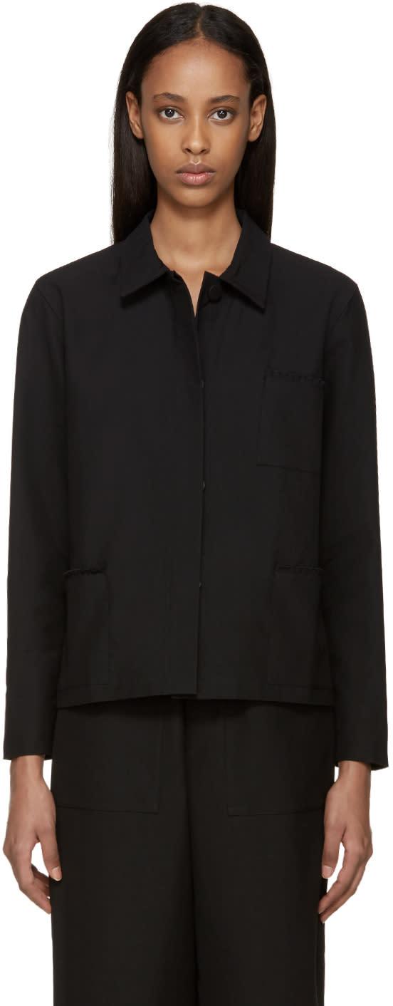 Sara Lanzi Black Piqu� Jacket