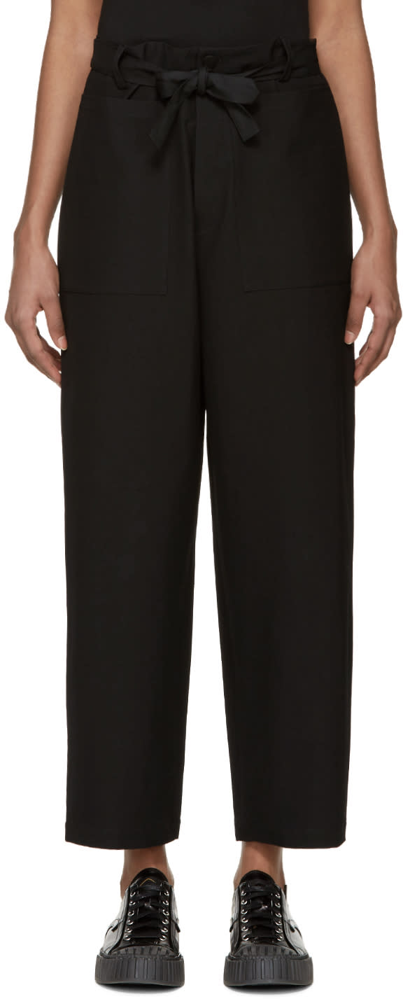 Sara Lanzi Black Wide-leg Trousers