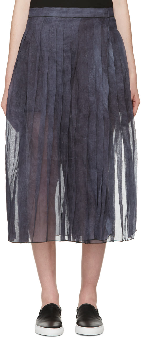 Sara Lanzi Blue and Purple Organza Skirt