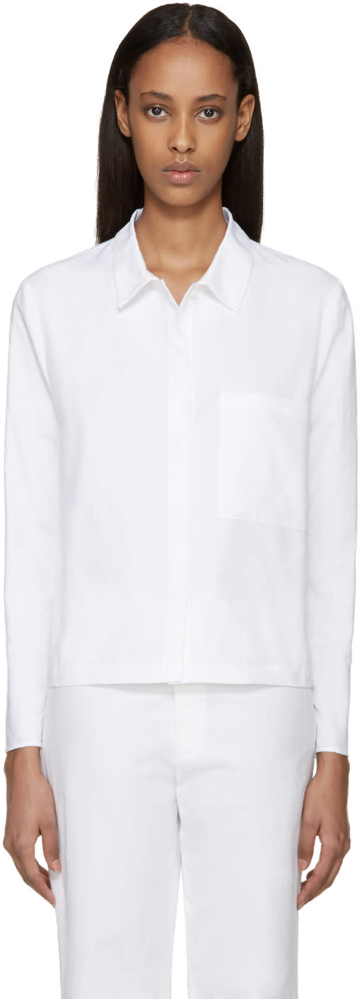 Sara Lanzi White Pocket Shirt
