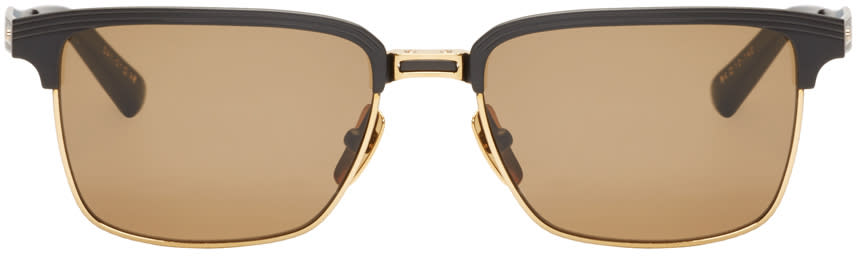Image of Dita Black and Gold Aristocrat Sunglasses