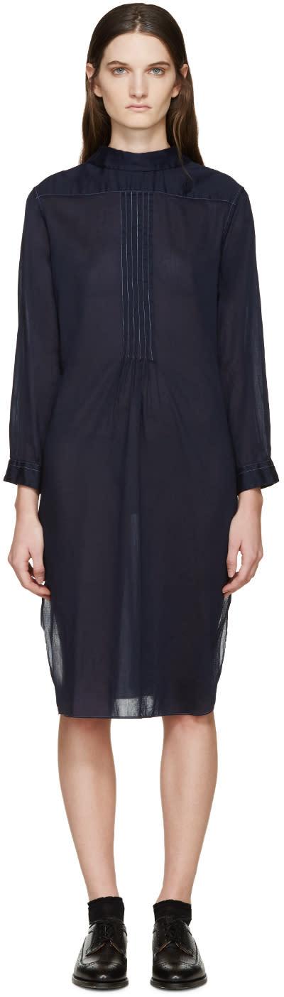 Tricot Comme Des Garçons Navy Voile Shirt Dress