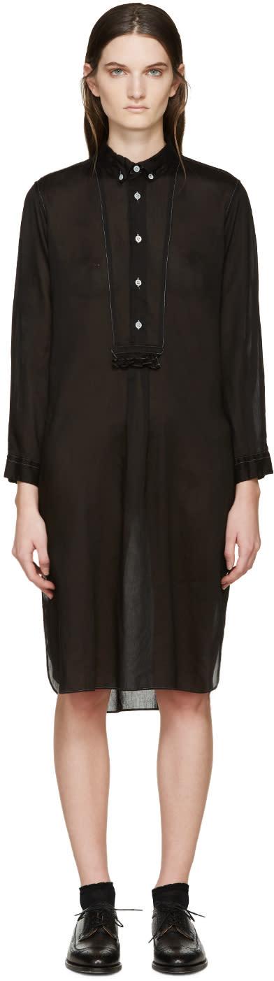 Tricot Comme Des Garçons Black Voile Shirt Dress