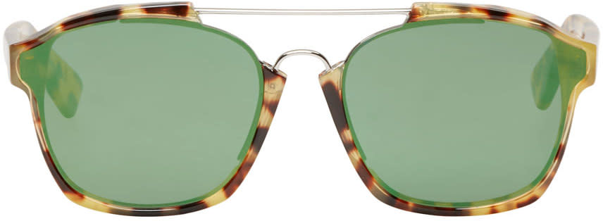 Dior Brown Tortoiseshell Abstract Sunglasses