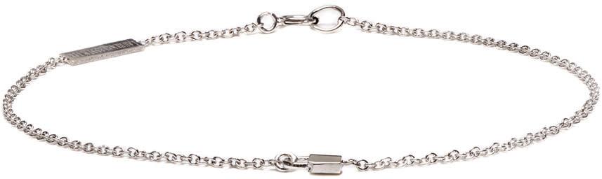 Lauren Klassen White Gold Tiny Padlock Bracelet