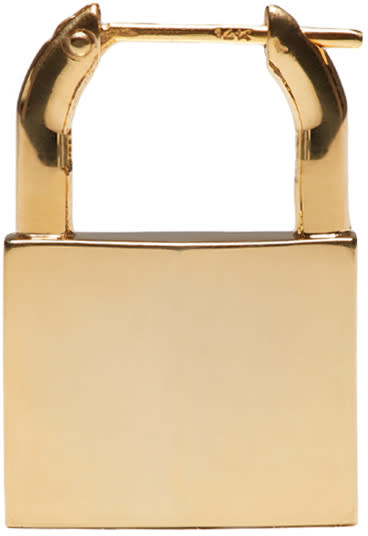 Lauren Klassen Gold Padlock Single Earring