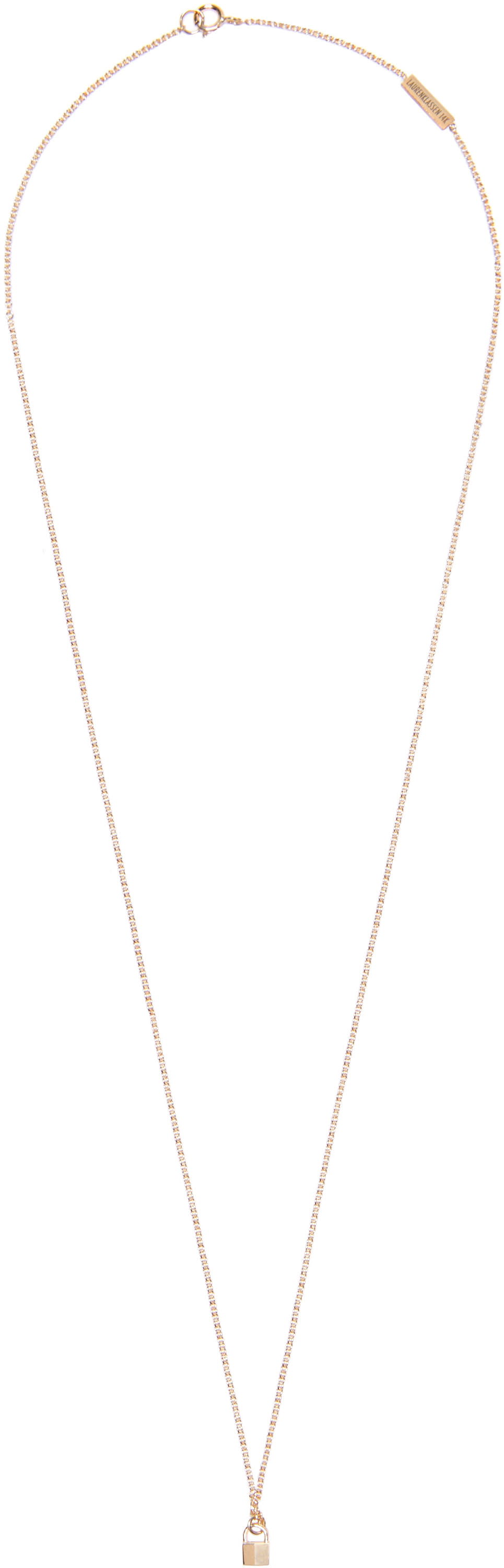 Lauren Klassen Gold Tiny Padlock Necklace