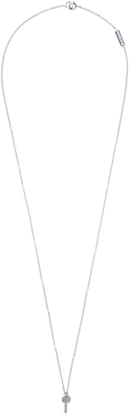 Lauren Klassen White Gold Tiny Key Necklace